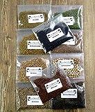Lot de 10 graines bio à germer dans une boîte cadeau. Idéales pour la cuisine ou comme cadeau.