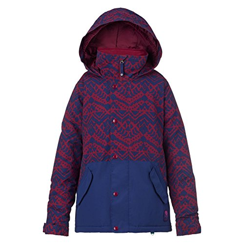 Burton Mädchen Echo Jacket Snowboardjacke, Sngria Wlby Sp/Splbd, S