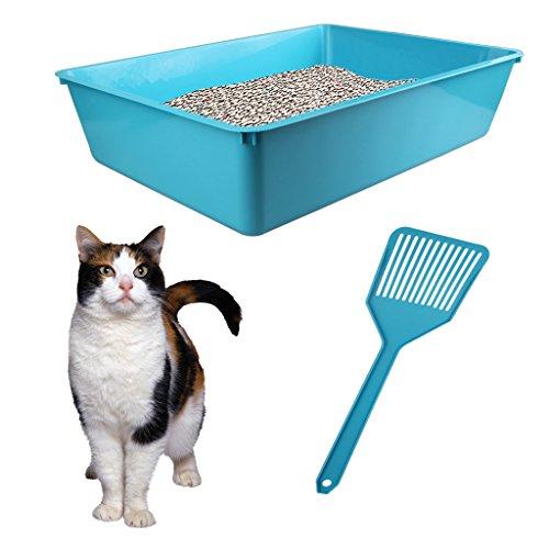 blue-cat-litter-tray-free-scoop-kitten-toilet-box-pet-clean-tidy-home-pooper-scooper