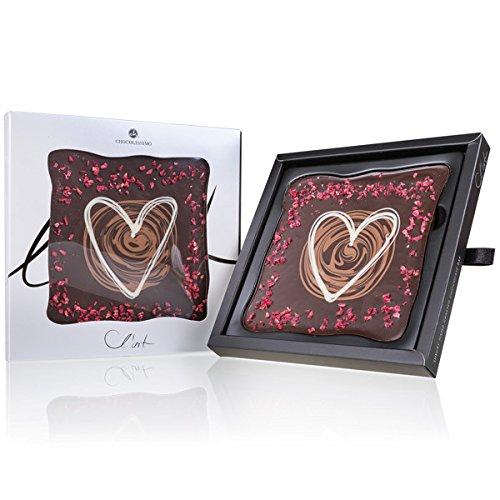 Schokoladentafel L´Art – Herz – Schokoladentafel mit Verzierungen