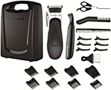 Remington HC366 Stylist Hair Clipper Set (Hair Clipper, Detail Trimmer, Scissors, Comb and Neck Brush), 25 Pieces - Black/Silver