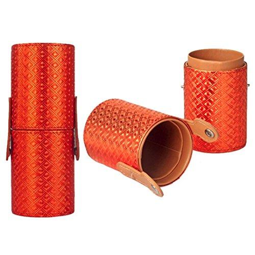 Susenstone 1PC Stockage Portable Cas Cosmétiques Maquillage Sacs Organisateur Brosse Coupe du Titulaire, Orange