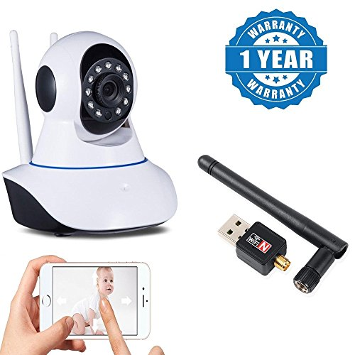 Captcha 1080P Wifi IP Camera Wireless Pan Tilt CCTV Wifi security IP Security Camera With Wireless Usb Wifi Adapter 300Mbps With Antenna Compatible with Xiaomi, Lenovo, Apple, Samsung, Sony, Oppo, Gionee, Vivo Smartphones (One Year Warranty)  available at amazon for Rs.2049