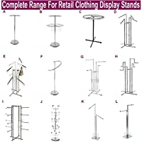 CompleteShopfittings PROFESSIONAL HEAVY DUTY CLOTHING RETAIL DISPLAY STANDS GARMENT DRESS SHOP RAILS