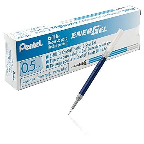 Pentel LRN5-C Nachfüllmine für EnerGel-Stifte 0,25 mm Strichstärke, 0,5 mm Kugeldurchmesser, 12 Stück, blau