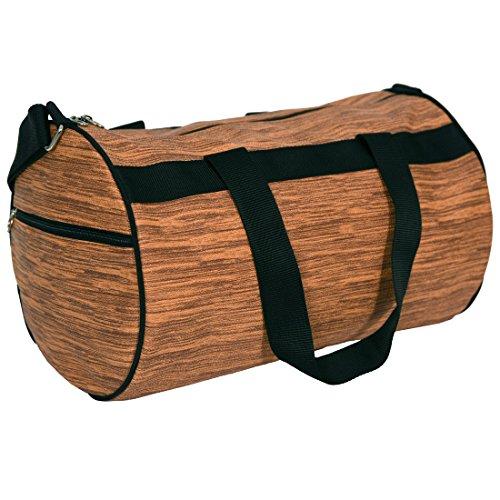 Balachia Faux Leather Gym Travel Duffel Bag (Brown)