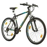 BIKE SPORT LIVE ACTIVE Bikesport Thunder 26 Zoll Fahrrad Mountainbike Herren-Fahrrad Jungen-Fahrrad Shimano 18 Gang (Schwarz Matt, XL)