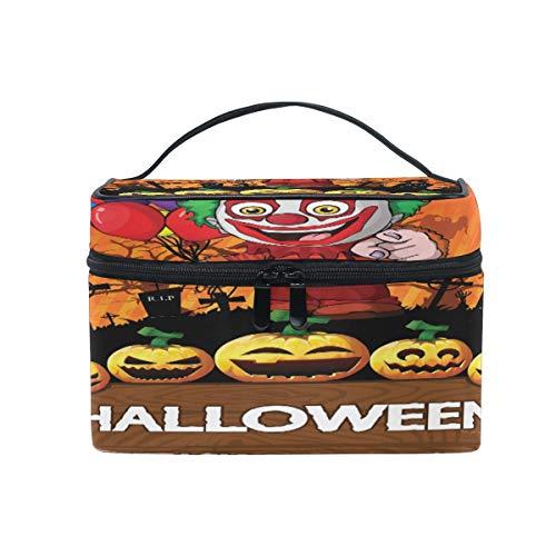 SUNOP - Bolsa maquillaje portátil diseño Halloween
