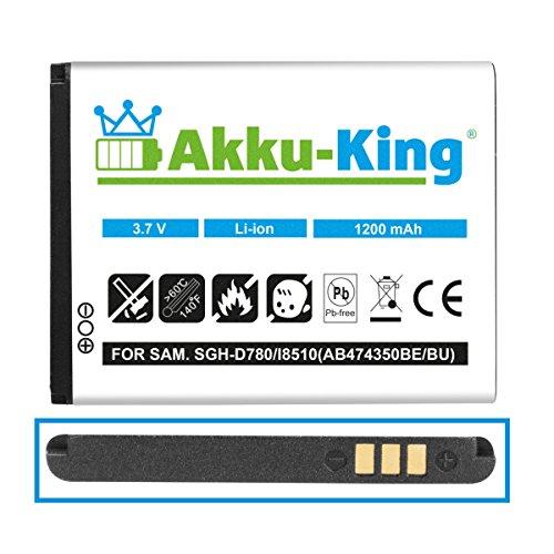 Akku-King Akku für Samsung SGH-D780, G810, i550, I7110, Galaxy 550 ersetzt AB474350 BE, BU