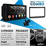 UGAR EX8 7' Android 8.1 Car Stereo Radio Plus 11-091 Fascia Kit for CITROEN C2 2003-2009; C3 2001-2010; Berlingo 2008+; Jumpy 2007-2016 / FIAT Scudo 2007+ / PEUGEOT (207) 2006-2012, (307) 2001-2008, E