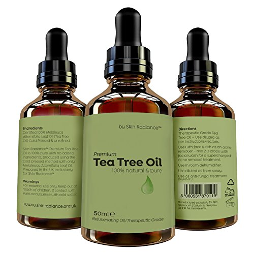 Premium Tea Tree Oil by Skin Radiance® - Therapeutic Grade Tea Tree Essential Oil Pure 100% - Cruelty Free & Vegan - Mix with Your Own Shampoo, Face Wash, Body Wash for Fantastic Results!