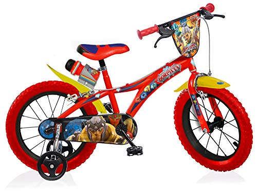 Gormiti Boy Bike 14 Inch Brakes on Handlebar Removable Trainingwheels Red