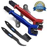 Prochive - Brosse de nettoyage pour chaîne de moto ou de vélo - Lot de 2 - Rouge, bleue