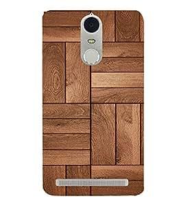 HiFi Designer Phone Back Case Cover Lenovo K5 Note :: Lenovo Vibe K5 Note Pro ( Wood Look Pattern Finish )