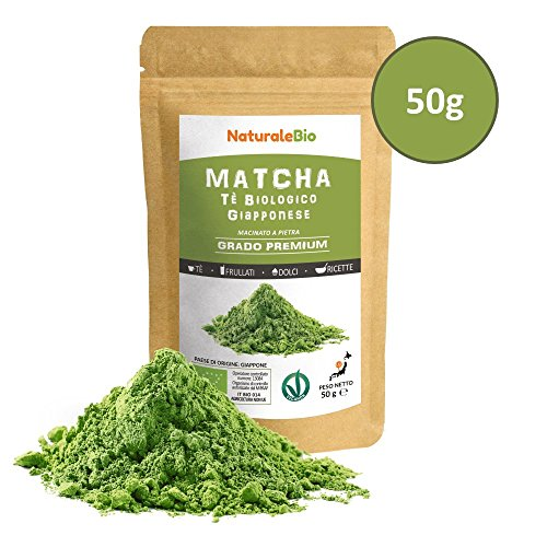 Matcha Tee Pulver Bio [Premium-Qualität] 50g | Original Green Tea aus Japan | Japanischer Matcha ideal zum Trinken | Grüntee-Pulver für Latte, Smoothies, Matcha-Getränk | Hergestellt in Uji, Kyoto.