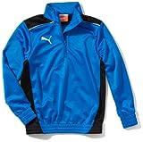 PUMA - Camiseta de fútbol sala para niño, tamaño 152 UK, color azul marino - negro