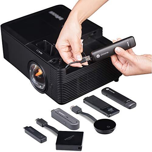 InFocus IN138HDST Kurzdistanzlinse, 16:9 Full HD 3D DLP-Projektor Beamer (1080p, 4000 ANSI Lumen, 28500:1 Kontrast, 3X HDMI, BrilliantColor) Schwarz Infocus Data Projector