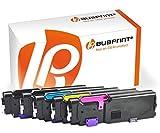 Bubprint 5 Toner kompatibel für Dell C2660 für C2660DN C2665DNF C2600 Series 593-BBBU 593-BBBT 593-BBBS 593-BBBR Schwarz Cyan Magenta Yellow