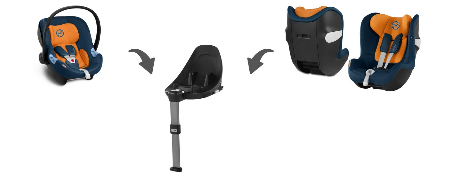 CYBEX Gold Sirona M2 i-Size Car Seat, Incl. Base M, From Birth to approx. 4 years, Up to Max. 105 cm Height, Urban Black  Cybex gold car seat sirona m2 i-size incl. base m Colour: urban black Item number: 519000957 3