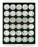Münzenbox mit 30 Vertiefungen á 37 mm Ø [Lindner 2537C]