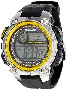 Sonata Ocean Digital Grey Dial Men's Watch - 7993PP04J