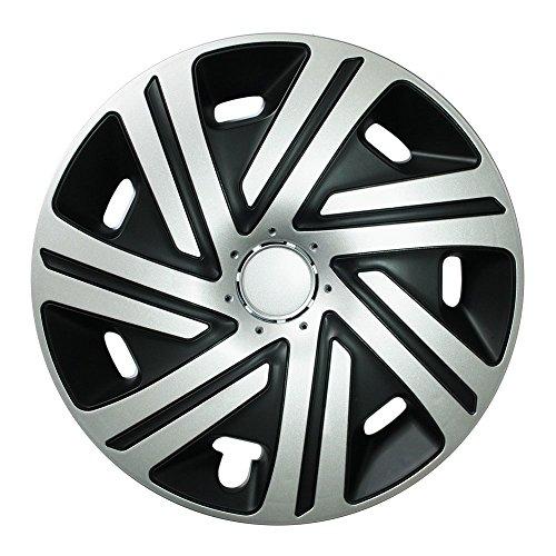 (Größe wählbar!) Radzierblenden 16 Zoll - CYRKON (Schwarz-Silber) passend für fast alle Fahrzeugtypen (universal)