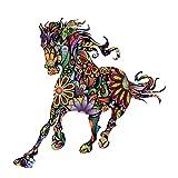 Pferd Wandtattoo Tapete für Kinderzimmer Schlafzimmer Wandsticker Wandaufkleber wasserdicht (Pferd 1)