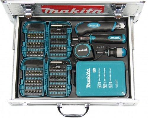 Makita Akku-Schlagbohrschrauber BHP453RHEX5 im Alukoffer inkl. 96-tlg. Zubehörset – 2 Akkus und Ladegerät