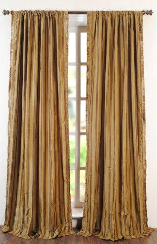 Deco Window Lurex Sripe Polyester Long Door Curtain - 96