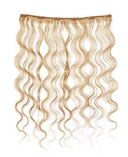 American Dream - A4/QFC12/18/27S - 100 % Cheveux Naturels - Douce Ondultation - Pièce Unique Extensions à Clipper - Couleur 27S - Blond Fraise Léger - 46 cm