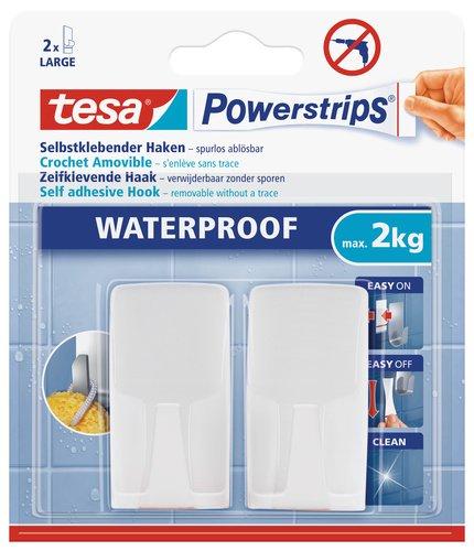 tesa-powerstrips-2-crochets-rectangulaires-blanc-2-languettes-waterproof