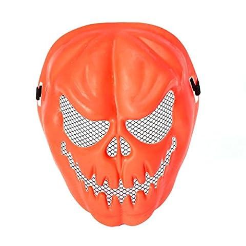 dairyshop Kürbis Totenkopf Skelett Maske, Halloween Masquerade Party Kostüm Maske Requisiten (Coole Purge Kostüme)