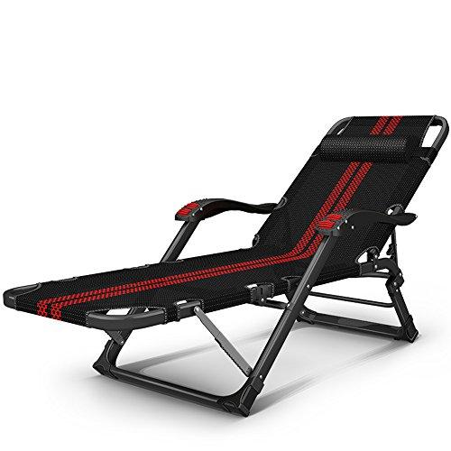 Home Balkon faul Nickerchen Bett / Büro Klapp Mittagspause Nickerchen Bett / Strandkorb / Massage Sessel ( Farbe : Schwarz und Rot )