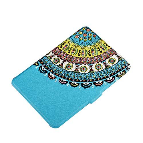 Dosige eBook Reader Sleeve Hülle Ultra Leightweight Schutzhülle Smart Cover für Kindle 558 Blaues Totemmuster