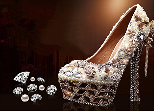 GZD-WomenS-Sexy-Pearl-Closed-Round-Toe-Crystal-Court-Shoes-Bridesmaid-Rhinestone-Bridesmaids-Pumps-Stiletto-High-Heel-Bridal-Wedding-Shoes