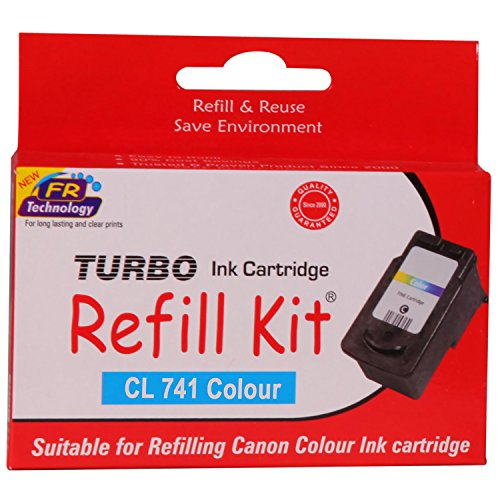 Turbo Refill Kit for Canon CL 741 Colour Ink Cartridge  available at amazon for Rs.590
