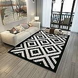 GJIF Designer Teppich Modern mit Konturmuster Grau/Schwarz Geeignet für Wohnzimmer Schlafzimmer Dicke - 6mm (größe : 120X180cm)