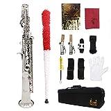 ammoon Sopran-Saxophon Saxophon Bb Messing lackiert Körper...