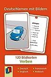 Deutschlernen mit Bildern: Verben: 120 Bildkarten auf Deutsch, Englisch, Französisch und Arabisch