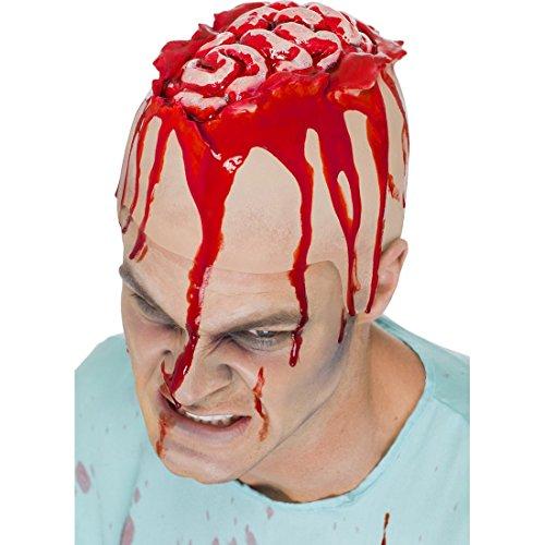 r Latex Mütze Halloween Applikation Make Up Kostümaccessoire Zombie Kostüm Zubehör (Zombie Gehirn Kopfbedeckung Erwachsene)
