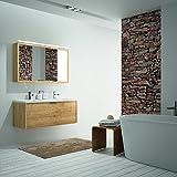 ALLIBERT Badmöbel-Set Badmöbel vormontiert Softclose-Funktion Eiche Hell Spiegel Waschtisch 120cm