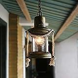 Hanamaki Vintage Pendelleuchte, Laterne Pendelleuchte Ambient Light, Kreative Klassische Antike Bar Cafe Balkon Eisen Petroleumlampe Kronleuchter