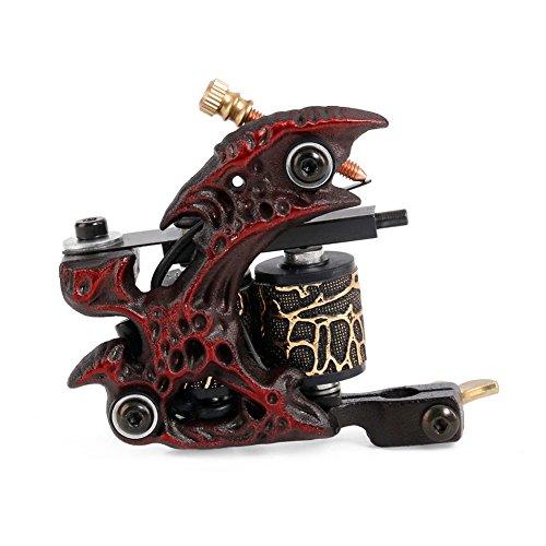 High-End-Coil Tattoo Maschine Legierung 10 Spule Sekant Tattoo Ausrüstung,Red (Tattoo Aluminium-legierung)