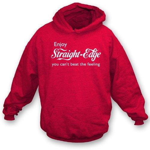 TshirtGrill Genießen gerade Kante Hooded Sweatshirt XXL, Farbe rot Preisvergleich