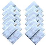 #6: KAJU Cotton Handkerchiefs for Men Set of 12