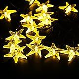 Guirnalda Luces 5m VicTsing, LED Blanco Cálido en Forma de Estrellas de Mar, Tiene 8 modos de iluminación distintos, 10 HORAS de funcionamiento para Jardín, Patio, hogar, árbol de Navidad.
