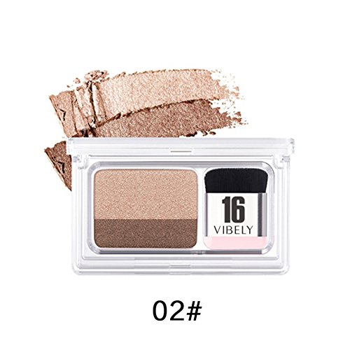 OYOTRIC Double Color Lazy Eyeshadow Palette Waterproof Pigment Shimmer Eye Shadow Makeup Suitable for Beginners -