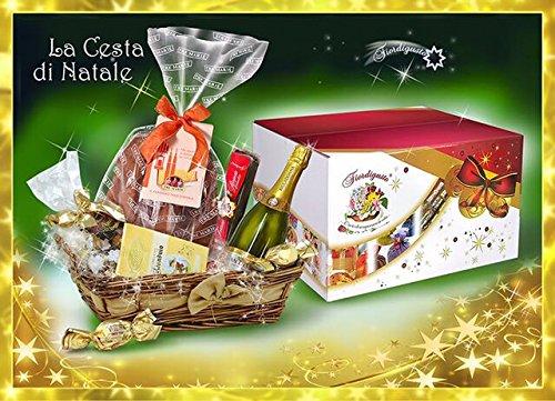 Idea Regalo di Natale - Cesto di Natale Artigianale - Cesto Natalizio - Cesti Natalizi - Cesta di Natale con Panettone o Pandoro TREMARIE