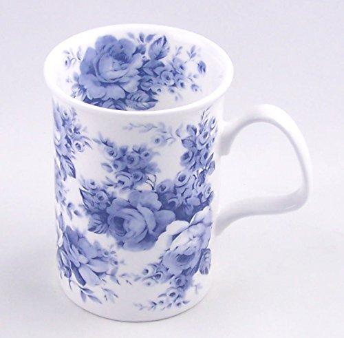 Roy Kirkham Blue Rose English Chintz Coffee or Tea Mug