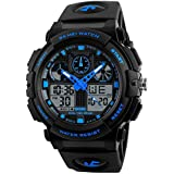 SKMEI Analogue - Digital Men's Watch (Black Dial Black Colored Strap)